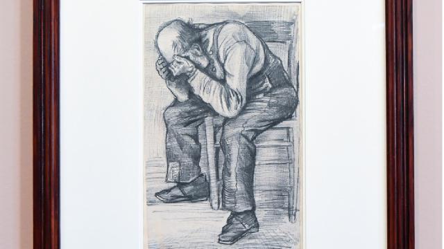 Van Gogha ait kara kalem çalışması ilk kez Amsterdamda sergilendi