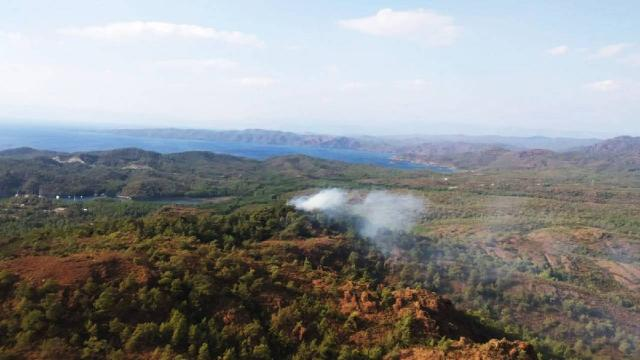 Marmariste çıkan orman yangını kontrol altına alındı