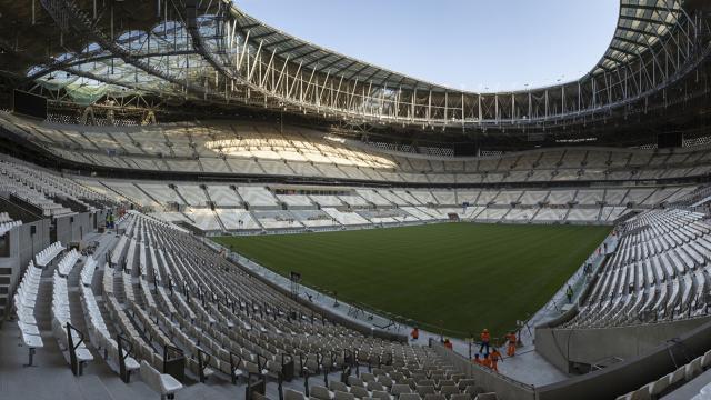 2022 Dünya Kupası final stadının çim halıları tamamlandı