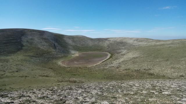 Amasyanın en yüksek doğal gölü kurudu