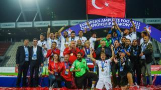 Şampiyon olan Ampute Futbol Milli Takımı'na tebrik mesajları