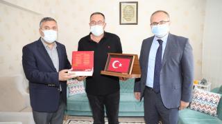 Çubuk Kaymakamı Keleş ve Belediye Başkanı Demirbaş'tan gazilere ziyaret