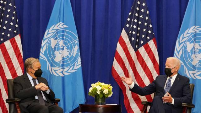 Biden ve Guterres New Yorkta bir araya geldi