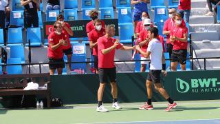 Türkiye Davis Cup'ta ilk güne iki galibiyetle başladı