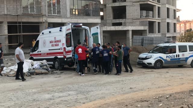 Elazığda inşaatın 7. katından düşen işçi hayatını kaybetti