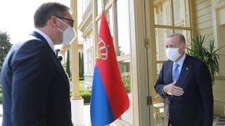 Cumhurbaşkanı Erdoğan, Vucic ile görüştü