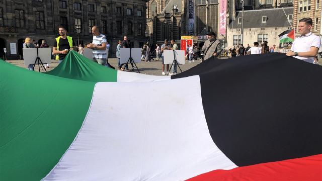 Filistinliler ABDnin şartlı destek anlaşmasını protesto etti