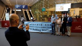 Hong Kong'da seçim komitesi üyelerini belirlemek için sandığa gidildi