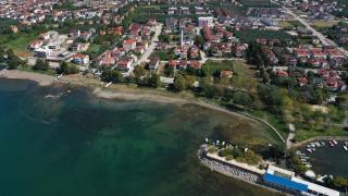 İznik Gölü'nde su kıyıdan 30 metre çekildi