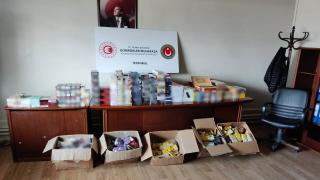 İstanbul'da 1 milyon lira değerinde kaçak tütün ele geçirildi