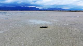 Karataş Gölü tamamen kurudu