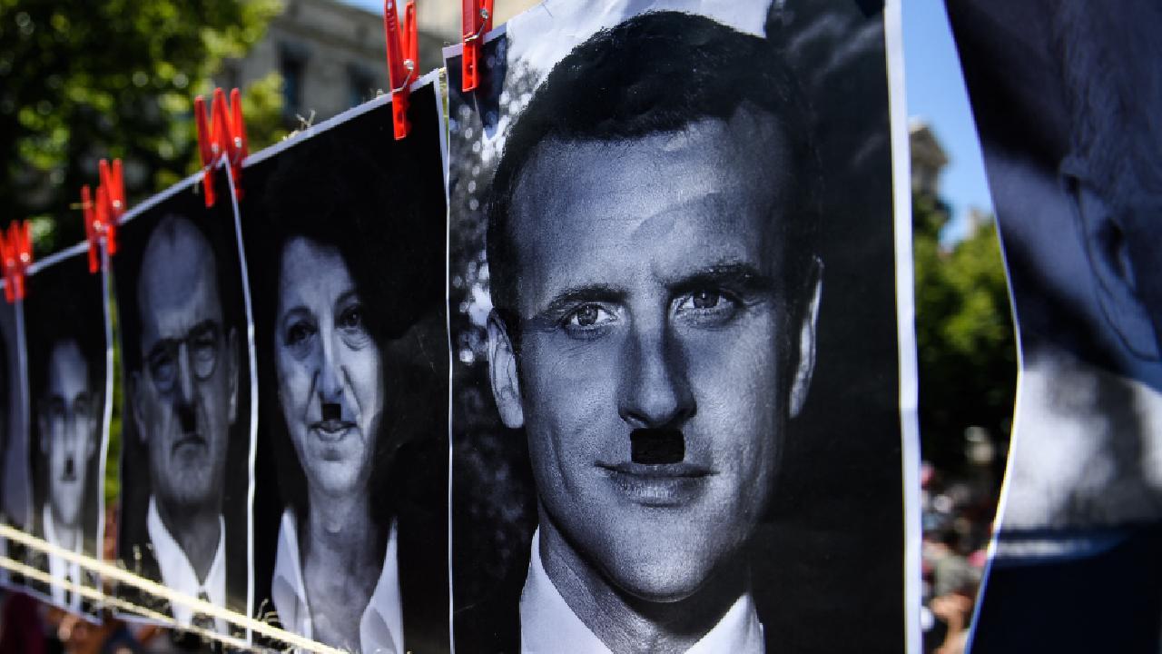 Macron'u Hitler'e benzeten kişiye 10 bin euro ceza