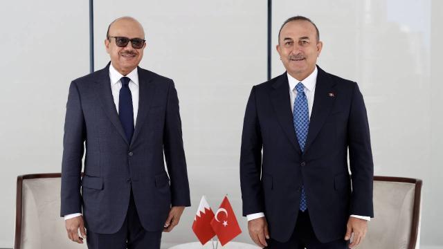 Bakan Çavuşoğlu, Bahreynli mevkidaşı ile görüştü