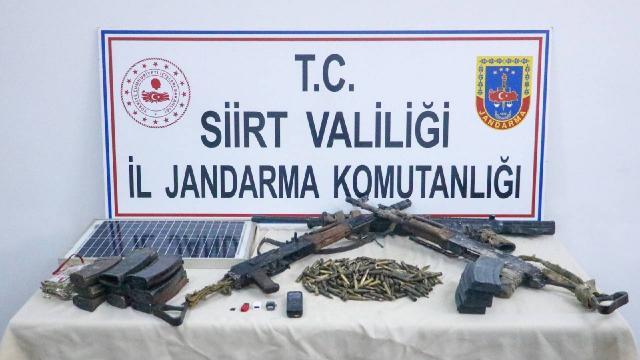 Siirtte teröristlere ait silah ve mühimmat ele geçirildi