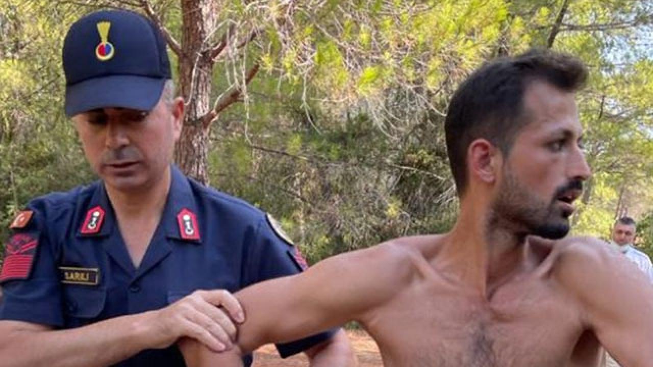 Suçüstü yakalandı, daha önce de orman yangını çıkardığı belirlendi
