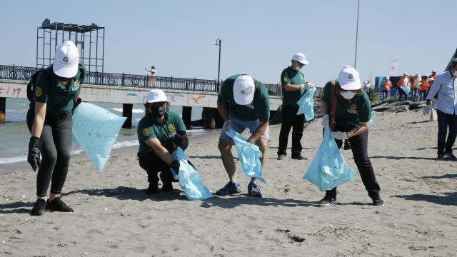 Samsunda Uluslararası Kıyı Temizleme Günü dolayısıyla sahil temizliği yapıldı