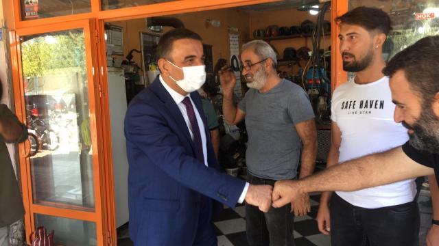 Siirt Valisi Hacıbektaşoğlu esnafla bir araya geldi
