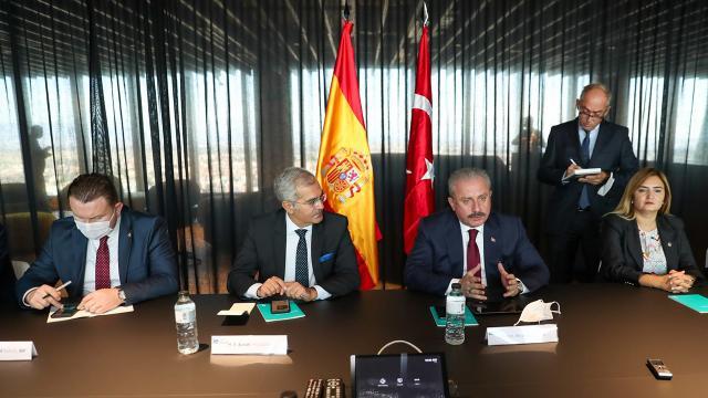 TBMM Başkanı Şentop, İspanyol mevkidaşı ile görüştü