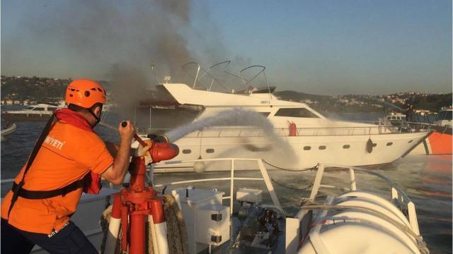 Bebekte tekne yangını