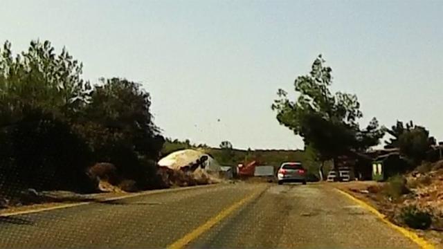 Çiftin ağır yaralandığı kaza, araç kamerasına yansıdı