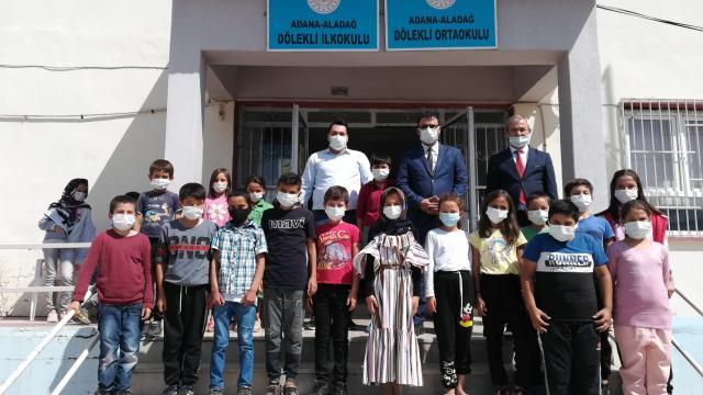 Aladağ Kaymakamı Berker Çırak, okulları ziyaret etti