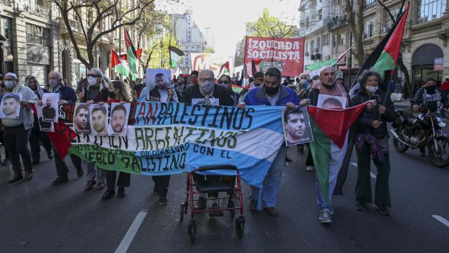 Arjantinde Filistinli tutuklulara destek gösterisi düzenlendi
