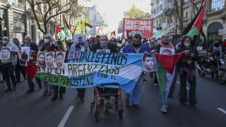 Arjantin'de Filistinli tutuklulara destek gösterisi düzenlendi