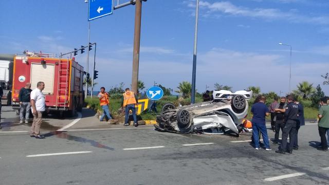 Artvindeki trafik kazasında 3 kişi yaralandı