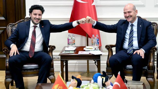 Bakan Soylu, Karadağ Başbakan Yardımcısı Abazoviç ile görüştü