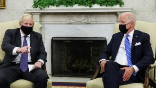 İngiltere Başbakanı Johnson ABD Başkanı Biden ile görüştü