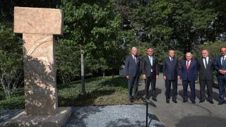Cumhurbaşkanı Erdoğan, BM'de sergilenen Göbeklitepe dikilitaş replikasını ziyaret etti
