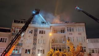 İstanbul Eyüpsultan'da çatı yangını