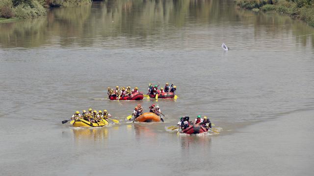 Diclede rafting heyecanı