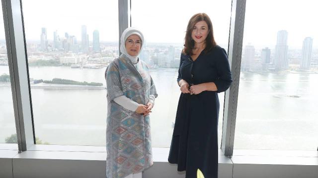 Emine Erdoğan, Hırvatistan First Ladysi ile bir araya geldi