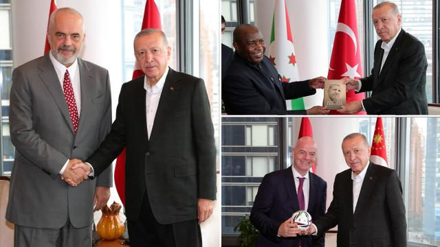 Cumhurbaşkanı Erdoğanın ABDdeki temasları sürüyor