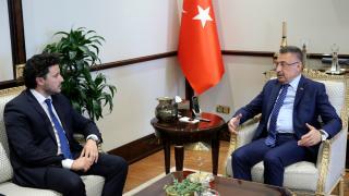 Fuat Oktay, Karadağ Başbakan Yardımcısı'nı kabul etti