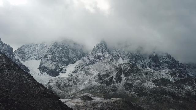 Kaçkar Dağının zirvesi beyaza büründü