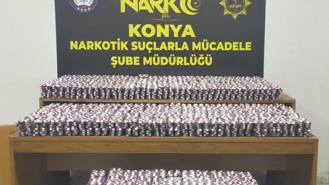 Konyada 27 bin 944 uyuşturucu hap ele geçirildi