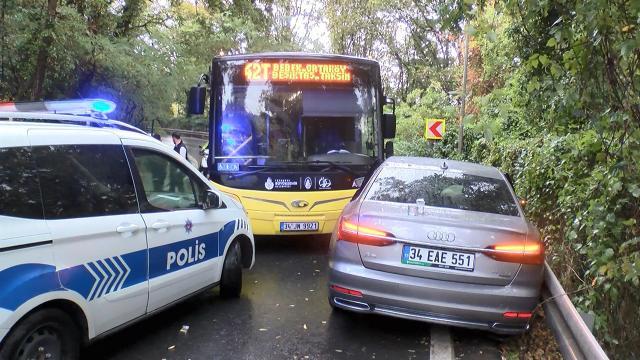 Sarıyerde zincirleme kaza: 2 yaralı