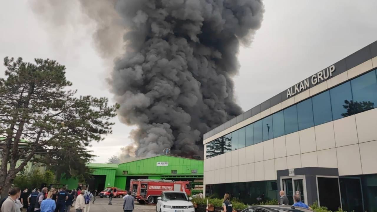 Şile'deki fabrika yangını kontrol altına alındı