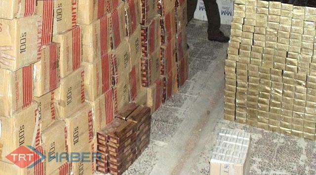 Bitliste 116 bin paket sigara yakalandı