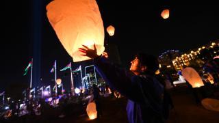 Azerbaycan'da Karabağ şehitleri anısına dilek balonları uçuruldu