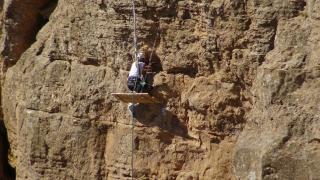 Kaya balı için tehlikeli tırmanış