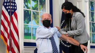 ABD Başkanı Joe Biden üçüncü doz aşısını oldu