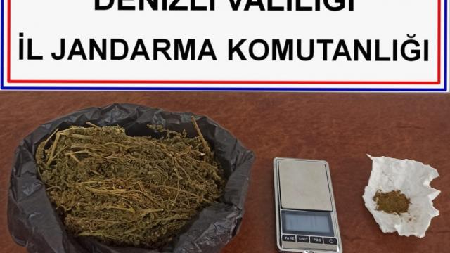 Suç örgütüne üye olmaktan aranan şahıstan 215 gram esrar çıktı
