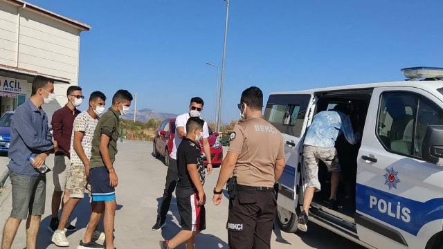 Datçada 6 düzensiz göçmen yakalandı