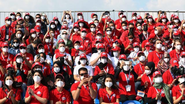 Emine Erdoğan TEKNOFESTe katılan gençlerle bir araya geldi