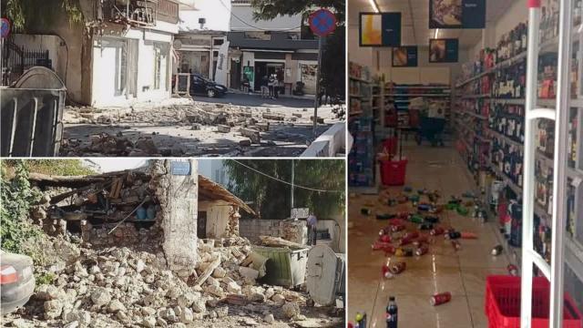 Giritte depremin ardından 350nin üzerinde binada hasar tespit edildi