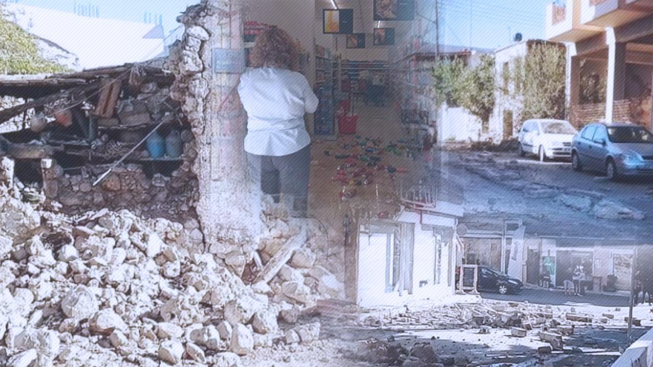 Girit'te artçı şoku: Bu kez 5'le sallandı