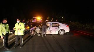 Domuz sürüsünün neden olduğu kazada 6 kişi yaralandı